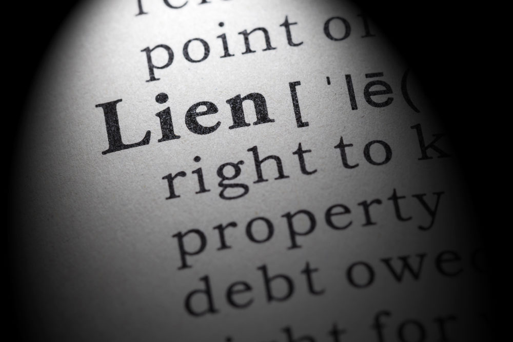 Dictionary definition of the word lien.