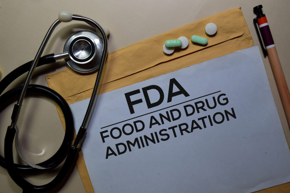 A manilla envelope labeled FDA - FOOD AND DRUG ADMINISTRATION