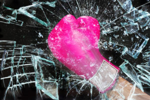 Pink girl power breaking the glass ceiling..