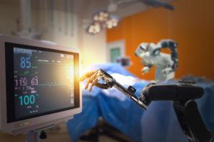 advanced robotic surgery machine at Hospital