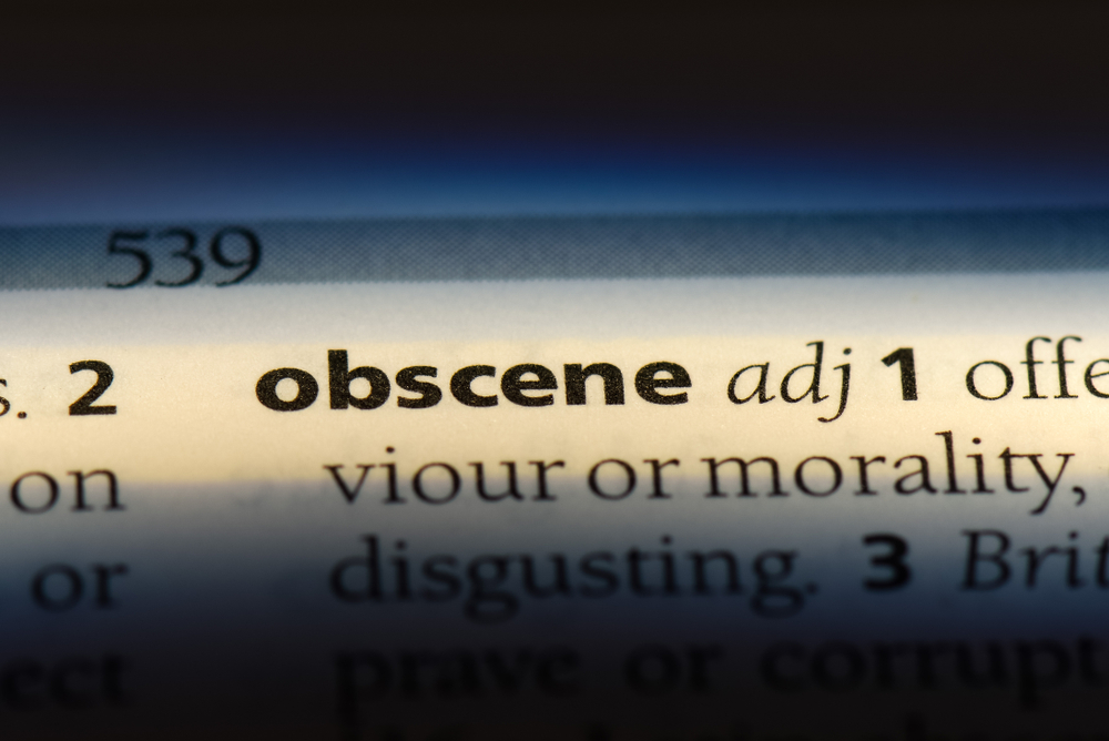 obscene word in a dictionary