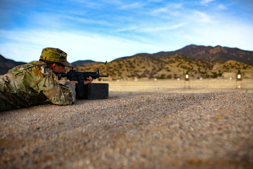 Soldier Rifle Training, Shooting at Range