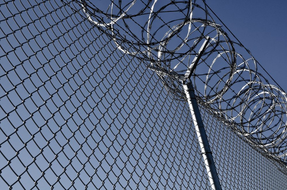 Security Fence used at a Prison Facility
