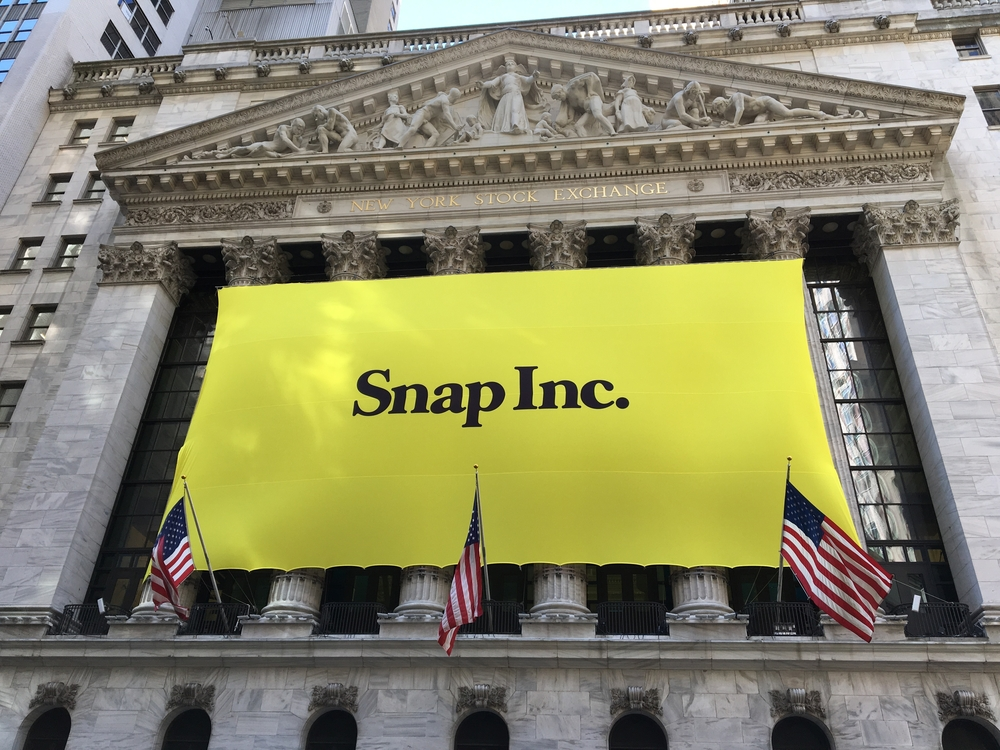 Snapchat's Snap Inc. makes IPO debut on the New York Stock Exchange NYSE.