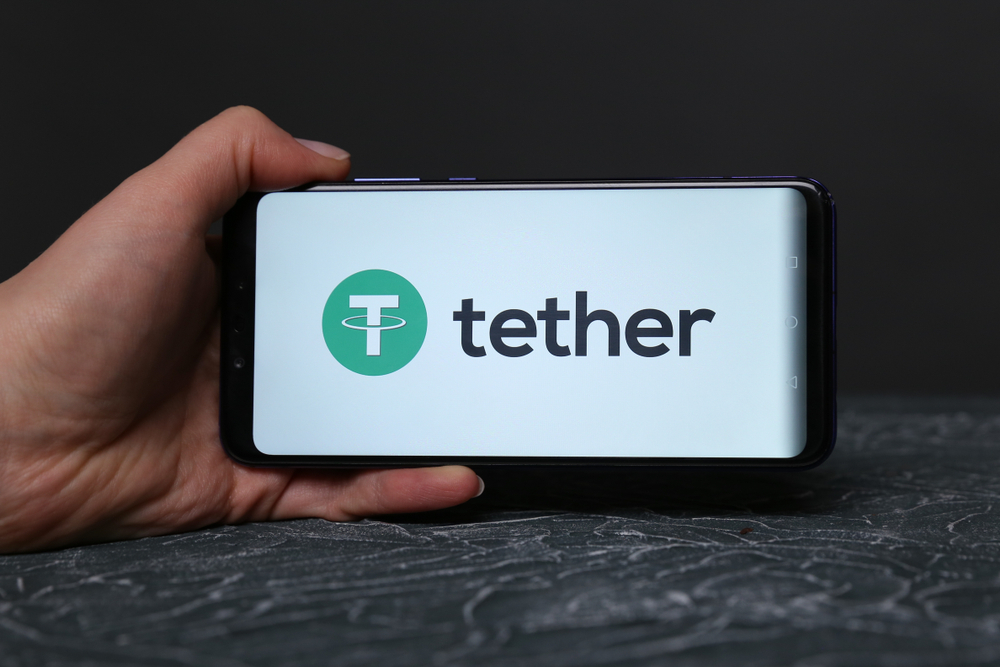 Tether on the phone display.
