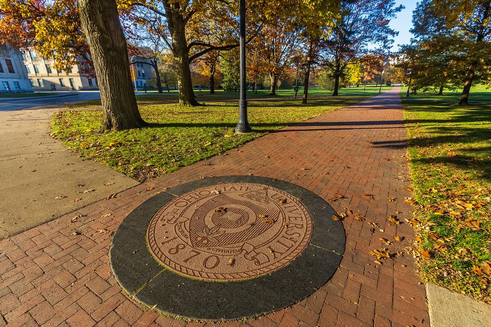 The Oval on November 7, 2020 at Ohio State University in Columbus, Ohio.